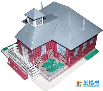 Czerwony dom willa dom 3D papier Model DIY edukacyjne rodziców i dzieci rękodzieło kurs Origami papierowe z zabawkami Model tanie i dobre opinie GRAPMAN need buyer to handmade 14Y Fantasy i sci-fi Zawodów Inne