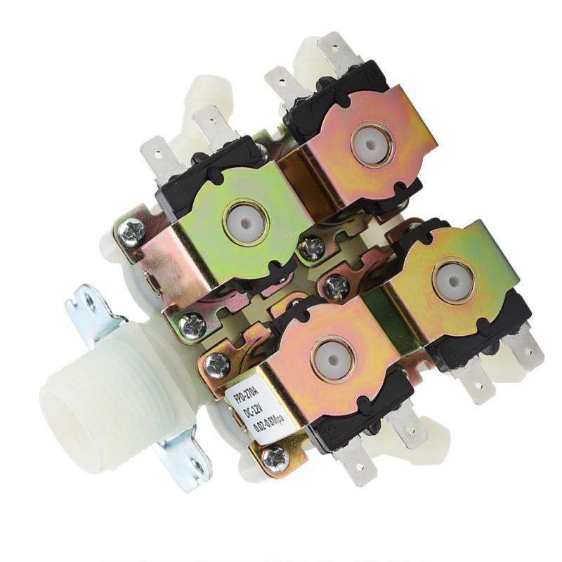 Heimwerker Dn20 G34 1 In 4 Out Kunststoff Elektromagnetische Ventil Normal Wasser Ablauf Ventil Dc 12 V PüNktliches Timing