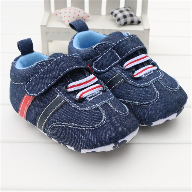 c25daadc52fbf Toddler Infant Baby Boy Shoes Navy Blue Denim Jeans Buckle Strap Casual  Newborn Boys Sneaker Soft Sole Girls Shoes Tenis Menino-in First Walkers  from ...