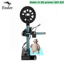 2017 Ender-2 мини 3D принтер легко собрать дешевые принтер 3D комплект DIY машина RepRap Prusa i3 с нитями + 8 г SD Card + Инструменты
