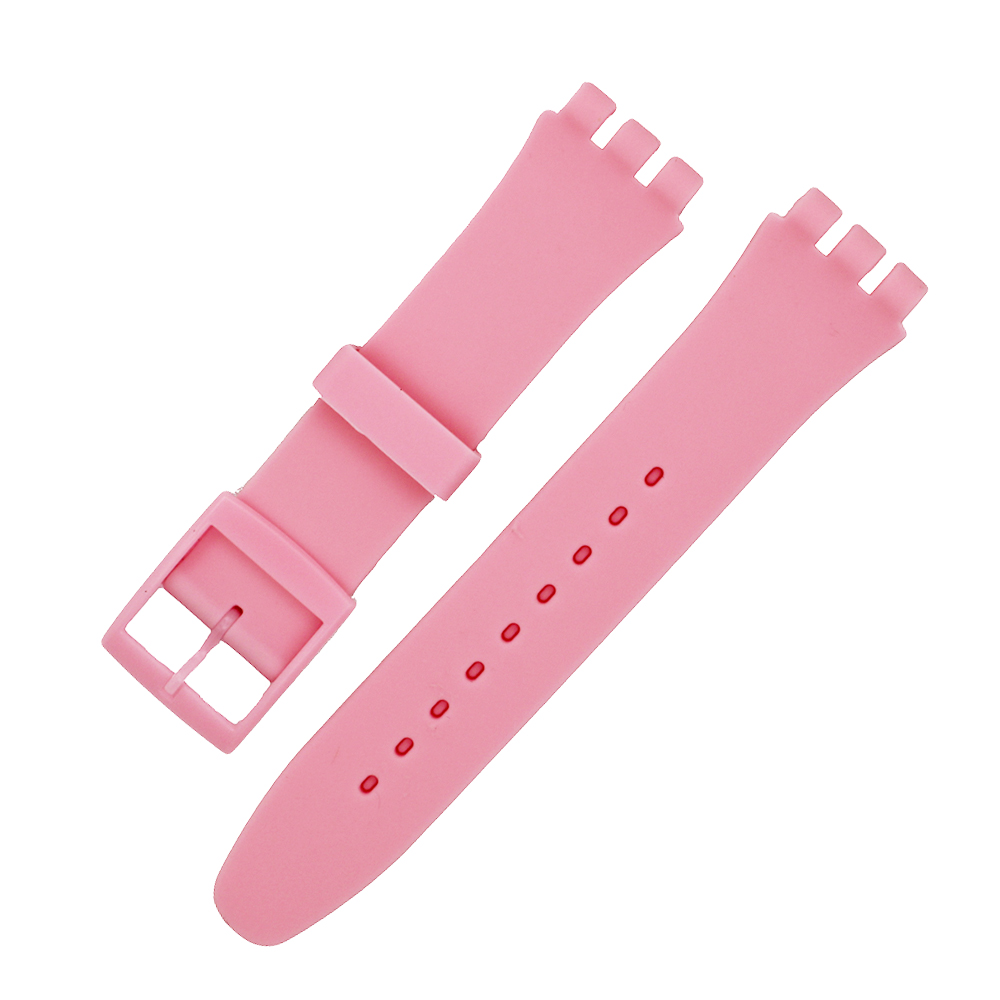 16mm 17mm 19mm 20mm Silicone Rubber Watch Band for Swatch Men Women Strap Wrist Loop Belt Bracelet Watchband Black White Blue купить