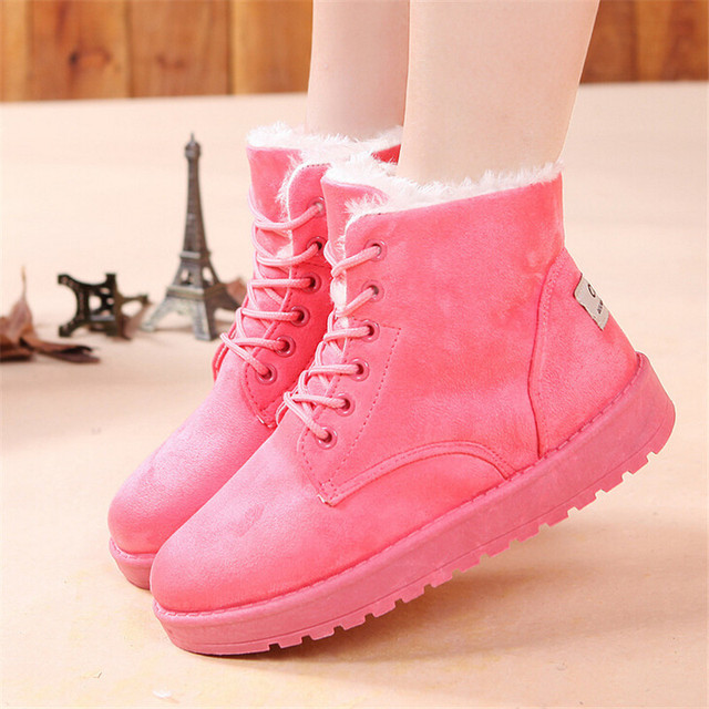 5dc6b3d0624 2015 New Women Winter shoes Fashion Botas Mujer Ladies Lace up Snow Boot  Female Platform Ankle Boots Ladies High Warm Shoe SU002
