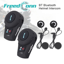 2 PCS FDCVB BT interphone Bluetooth Motorbike Motorcycle helmet intercom Headset +Soft Earphone