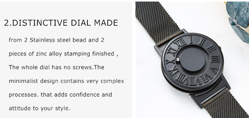 EUTOUR Colors Canvas Strap watch man Magnetic Ball Quartz Watches Personify Waterproof Male Clock Simple Mimimalist Wristwatches (9)