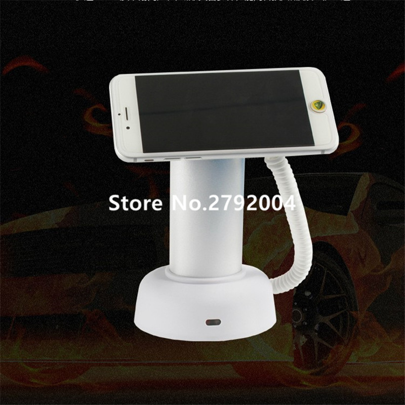 10 pcs/lot merchandising security solution for retail mobile shops,cell phone alarm display stand with recharging & alarm