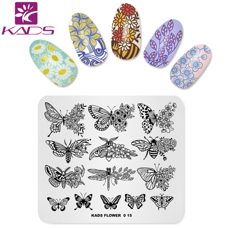 KADS 15pcs/set Nail Art Stamp Template Flower & Fashion & Christmas Decorations Template Stencil Tools Manicure Plate 10pcs nail art stamping printing skull style stainless steel stamp for diy manicure template stencils jh461 10pcs