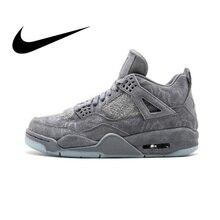 promo code 0bf64 99c75 Originais Nike Air Jordan 4 Retro Kaws AJ4 Calçado Designer De Tênis De  Basquete Esportes dos homens Tênis Ao Ar Livre 2018 calç.