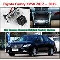 Для Toyota Camry XV50 2012 ~ 2015 Автомобиля Камеры, Подключенной Оригинальный Экран Монитора и Заднего Вида Резервного Копирования Камеры Оригинальный автомобиля экрана