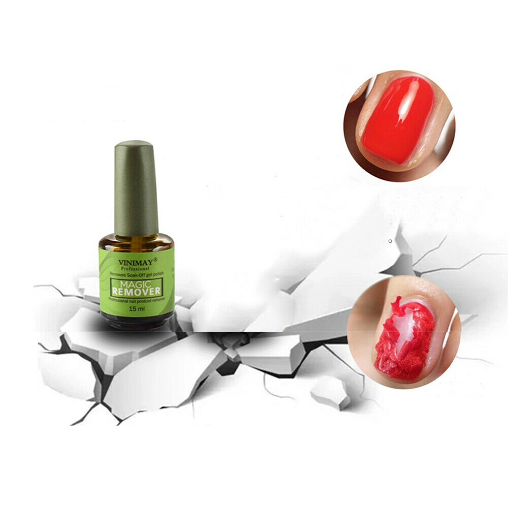 Magic Remove UV Gel Nail Polish Remover Nails Primer Clean For Nail Lacquer Top Coat Gel Polish Nail Art Primer in Nail Polish Remover from Beauty Health