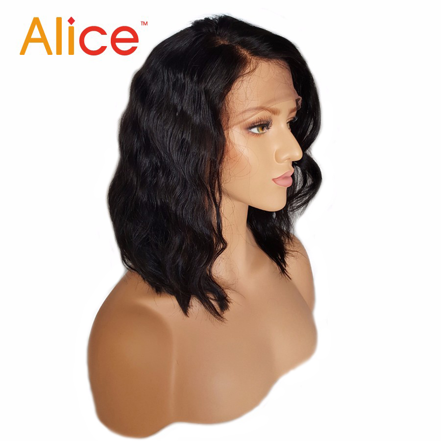 Alice Bleached Knots Full Lace Wigs Human Hair With Baby Hair Wavy Short Full Lace Human Hair Wigs For Black Women All Hand Tied (3)