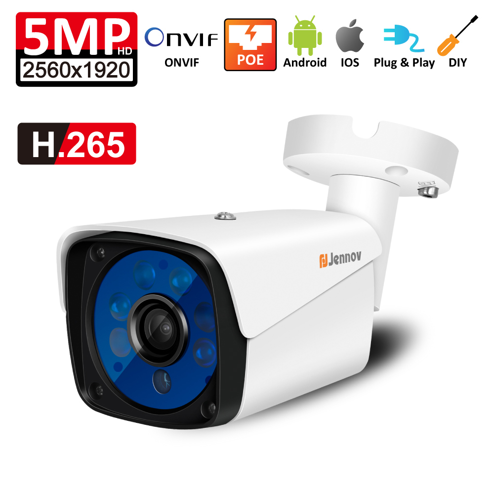 HD POE IP Camera P2P Outdoor Video Surveillance kit H.265 2MP 5MP Onvif Home Security Camera IR Night App Remote View Ipcam h 265 h 264 2mp 4mp 5mp full hd 1080p bullet outdoor poe network ip camera cctv video camara security ipcam onvif rtsp