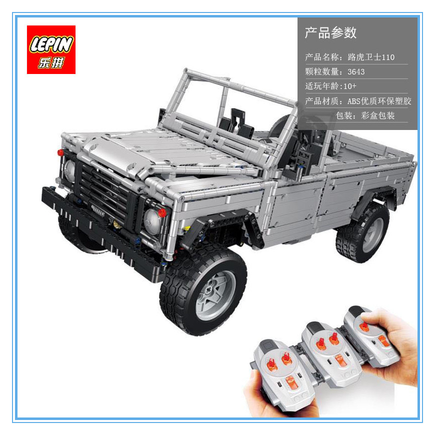 Lepin 23003 3643Pcs Technic series Creative MOC RC Wild off-road vehicles model Building Blocks Bricks SUV toys for boys gifts lepin 20011 technic series super classic limited edition of off road vehicles model building blocks bricks compatible 41999 gift