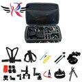 Gopro acessórios set go pro kit de montagem para sj4000 gopro hero 4 3 2 1 black edition sjcam sj5000 camera case xiaoyi peito tripé