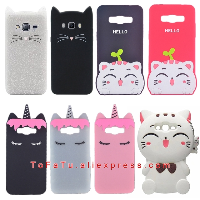 more photos 6a149 be76e US $2.93 11% OFF|For Samsung Galaxy J7 Neo J701M J7 Nxt J701F J7 Core  J701FZ Duos Case Silicone Cactus Ice Cream Cat Unicorn Phone Cover-in  Fitted ...