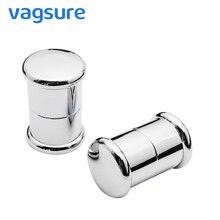 купить VAGSURE 2Pcs/lot 7cm*4.5cm Single Hole Round Sliding Glass Door Handle For 4- 6mm Handles For Shower Cabin Room Accessories дешево