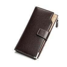 PU Leather Men Wallet Hasp Zipper Fashion Men Purse Business Casual Dual-use Card Holder 001S