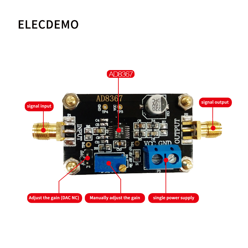 Image 2 - AD8367 Module Variable Gain Amplifier 500MHz Bandwidth 32dB Gain Amplification Function demo Board-in Demo Board Accessories from Computer & Office