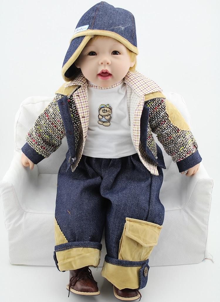 24 inch reborn baby doll lifelike boy vinyl baby toys cute soft reborn babytoddler collection