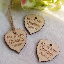 50cs Personalized wedding tags custom Engraved 40mm*37mm