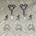 100 pçs/lote Junho De 2015 Novo Design Criativo Do Casamento Favorece Presentes Do Partido Prata Mickey Mouse Esqueleto Chave Abridor de Garrafa de Cerveja