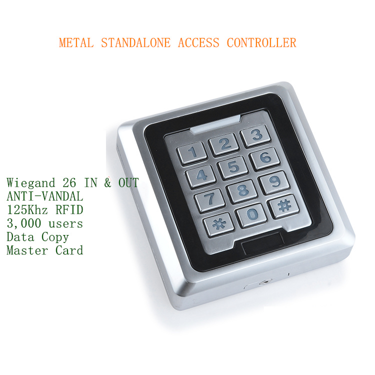 New Arrival 3000 Users 125KHz RFID Metal Anti-vandal Access Control Keypad, Support Copy Data Directly Between Two Same Models. new arrival metal case anti vandal 125khz rfid keypad access control wiegand 26 input