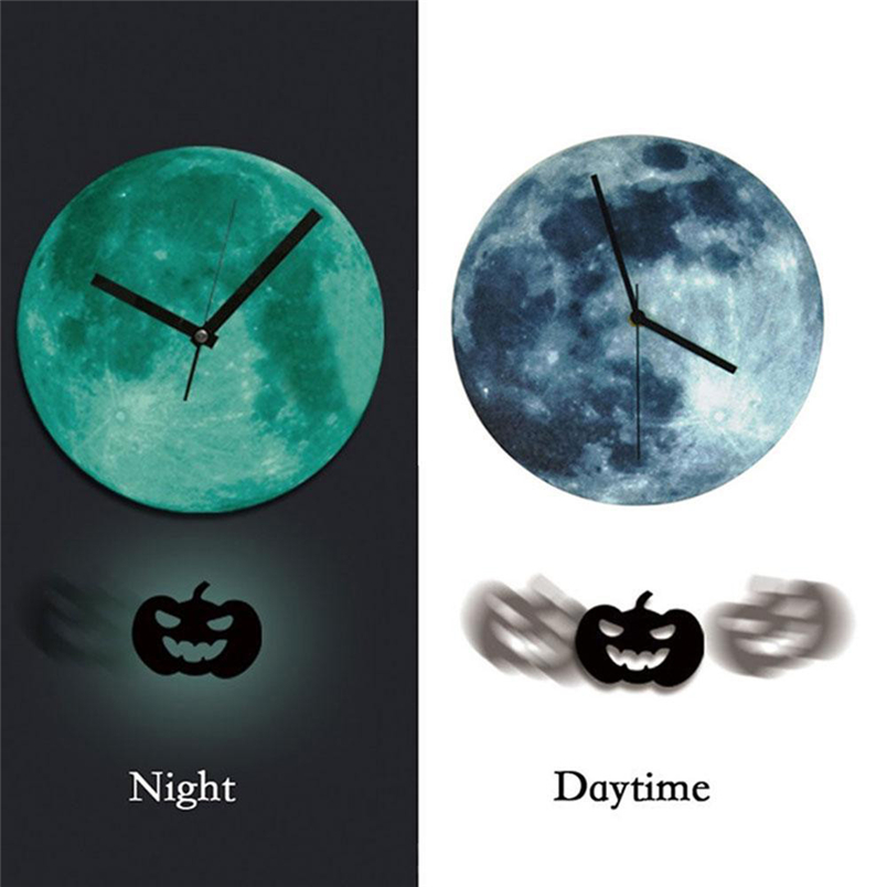 Aimecor Big Wall Clock Hot Halloween Night Lunar Clock Cartoon