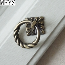 Dresser Knob Pull Drawer Pulls Knobs Handles Antique Bronze Kitchen Cabinet Door Knobs Handle  Furniture Hardware Drop Ring стоимость