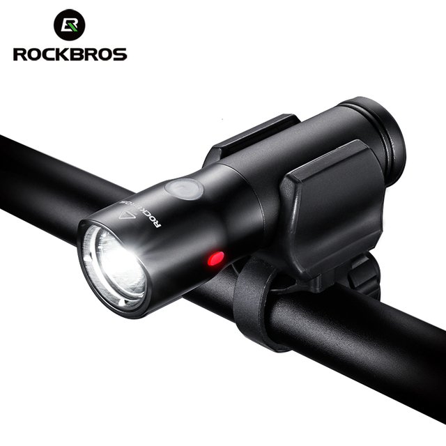 ROCKBROS Bicycle Light Power Bank Waterproof USB Rechargeable Bike Light Side Warning Flashlight 700 Lumen 18650 2000mAh 5 Modes