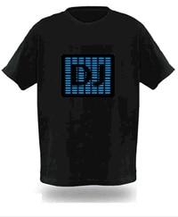 Luminous t-shirt light clothes voice activated t-shirt fm054