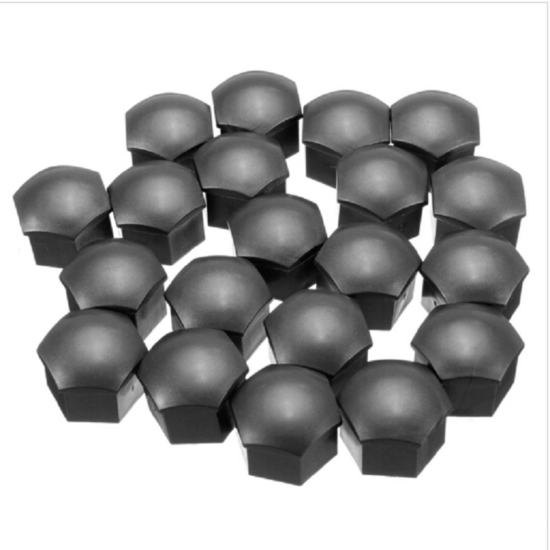 <font><b>20</b></font> <font><b>Pcs</b></font> Wheel Lug Bolt Nut Cover Caps 17mm Hex Head Bolts Black For <font><b>BMW</b></font> E92 E93 F01 F30 F20 X1 X2 X3 X4 X5 for Audi A4 Q5 Skoda image
