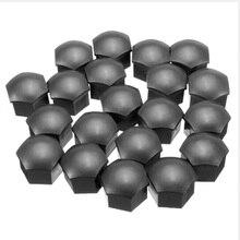 20 Pcs Wheel Lug Bolt Nut Cover Caps 17mm Hex Head Bolts Black For BMW E92 E93 F01 F30 F20 X1 X2 X3 X4 X5 for Audi A4 Q5 Skoda