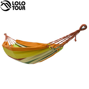 Image 4 - High Strength Thicken Single Canvas Fabric Hammock Garden Sleeping Casual Hamak  Outdoor Hamac  Swing Hamaca Travel 200*100cm