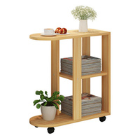 Small coffee table 60x30x66.4CM Bedside Table Modern Sofa Side Table Living Room Storage Cabinet With Wheels