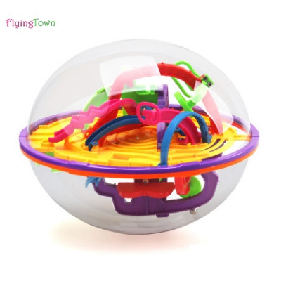 3D 100 Steps Maze Puzzle Ball Kids Game Brain Educational Children Toys Gift Balance Logic AbilityFree Shipping 3d magical coin intellect maze ball kids amazing balance logic ability toys educational iq trainer game for kids chirstmas gifts