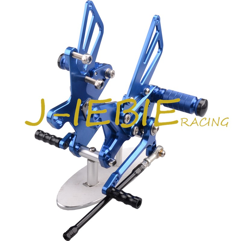 CNC Racing Rearset Adjustable Rear Sets Foot pegs Fit For Kawasaki NINJA ZX10R 2011 2012 2013 2014 2015 BLUE morais r the hundred foot journey