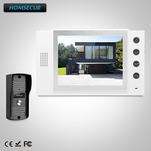 HOMSECUR 8 Video Door Entry Security Intercom+Metal Case Camera for House/Flat TC031 + TM801-WHOMSECUR 8 Video Door Entry Security Intercom+Metal Case Camera for House/Flat TC031 + TM801-W
