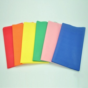 Image 2 - 137*183cm Plastic Tablecloths Table Cover Party Decor Solid Color Disposable Red/Pink/Orange/Blue/Yellow/green waterproof cloth