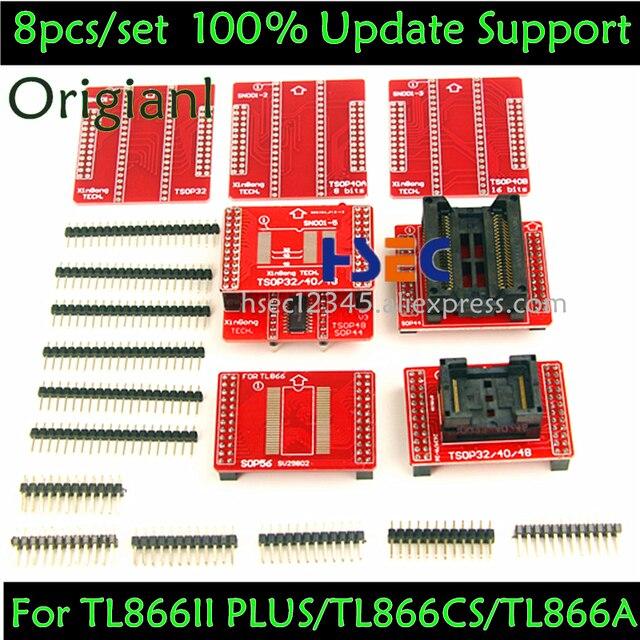 8pcs Original V3 TSOP48/40/32 ซ็อกเก็ต SOP44/56 อะแดปเตอร์ XGecu TL866II Plus MiniPro TL866CS /A Tl866 Universal USB