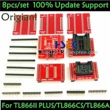 8pcs Original V3 TSOP48/40/32 socket SOP44 /56 adapter of XGecu TL866II Plus MiniPro TL866CS/A Tl866 USB Universal Programmer