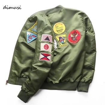 DIMUSI Bomber Jacket Mens  Ma-1 Flight Jacket Pilot Air Force Male Ma1 Army Green Military motorcycle Jacket and Coats 6XL,TA039 1
