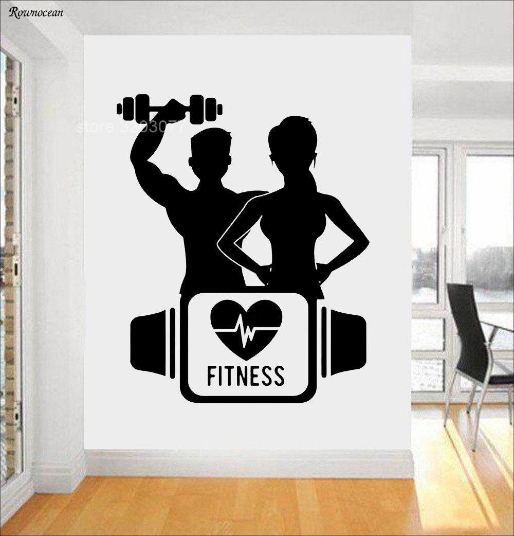 Gym Interior Fitness Design And: Men And Women Together Lovers Fitness Sports Gym Dumbbell