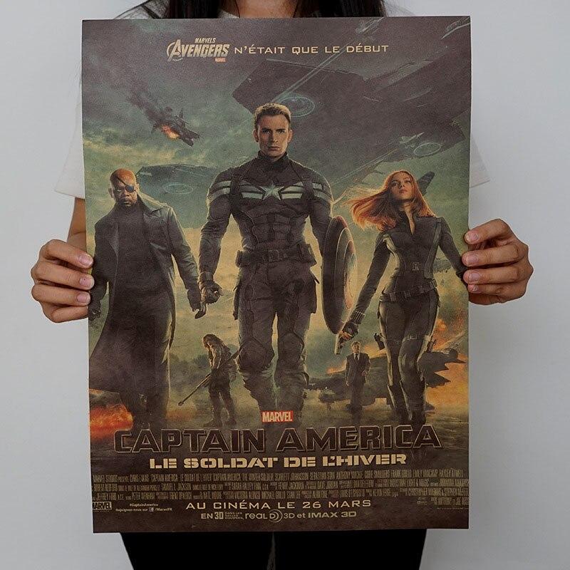 Mling 1 шт., 51,5x36 см, постер из серии Marvel, Мстители, война бесконечности, Ретро плакат, наклейки на стену для гостиной, украшение для дома - Цвет: H05