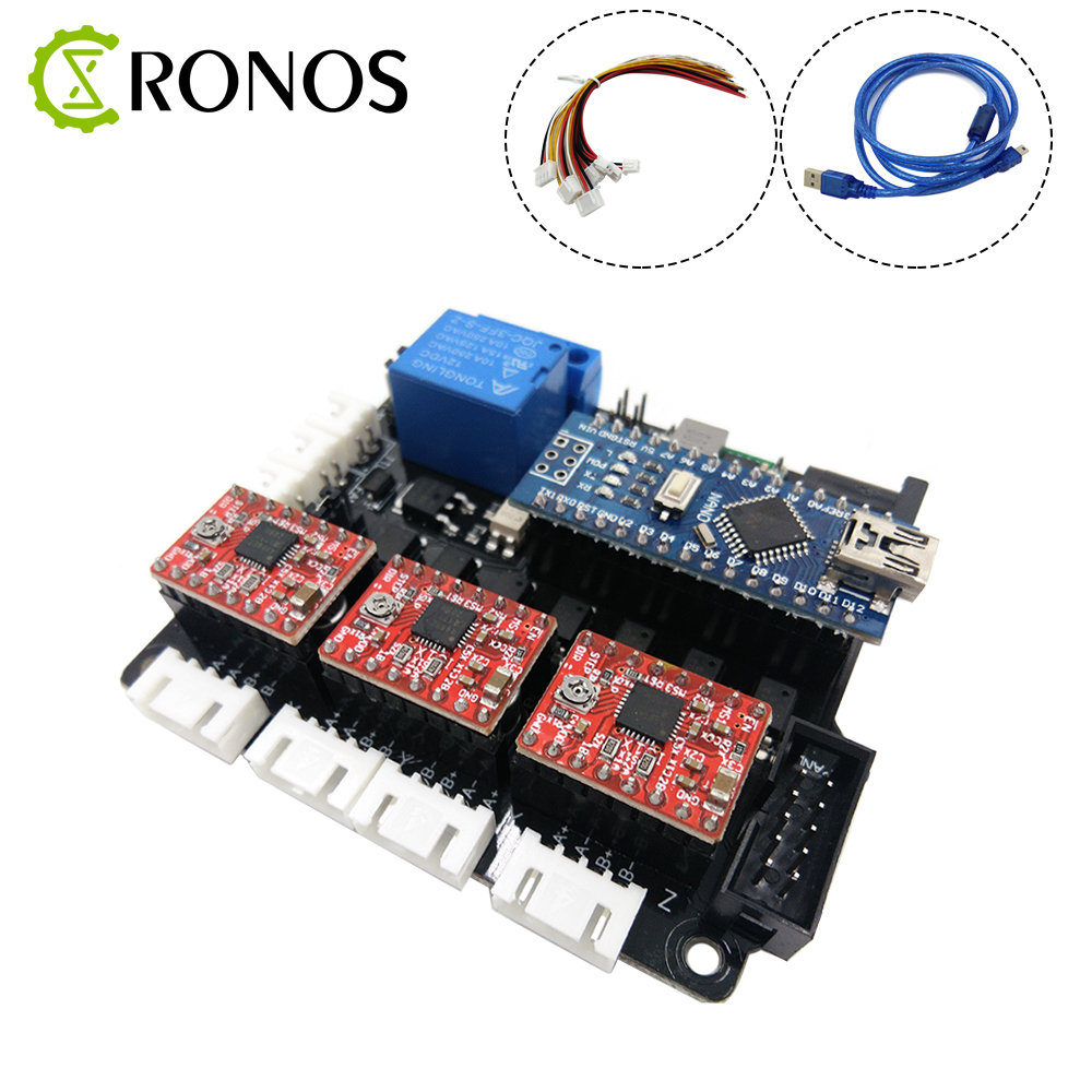 3 Axis CNC Controller Board GRBL Open Source Firmware Laser Engraving Machine PCB Board Wood Router Controller cnc3018 er11 diy cnc engraving machine pcb milling machine wood router laser engraving grbl control cnc 3018 best toys gifts