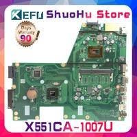 KEFU For ASUS X551CA X551CAP F551C R512CA X551C 1007U CPU laptop motherboard tested 100% work original mainboard