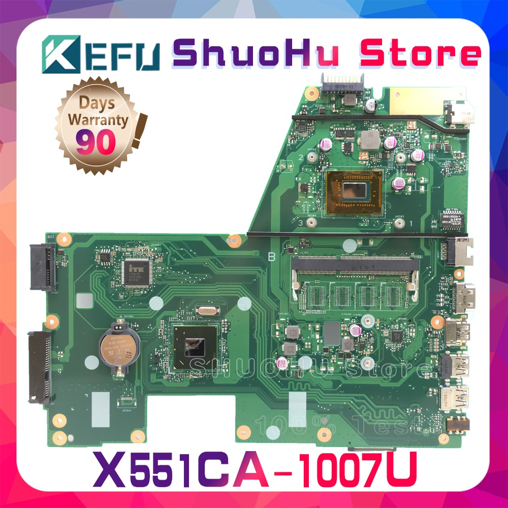 SHELI For ASUS X551CA X551CAP F551C R512CA X551C 1007U CPU laptop motherboard tested 100% work original mainboard hot for asus x551ca laptop motherboard x551ca mainboard rev2 2 1007u 100% tested new motherboard