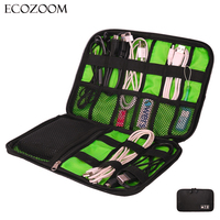Electronic Accessories Bag Hard Disk Organizers Earphone Cables SD Card USB Flash Drive Portable Travel Case