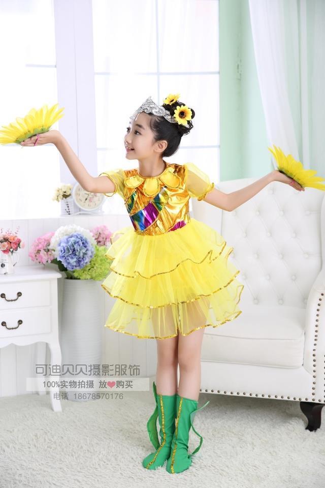 Одежда для маленьких девочек; платье для девочек с подсолнухами; детская одежда для девочек; детское платье для свадебной вечеринки; костюм Подсолнуха;#7145