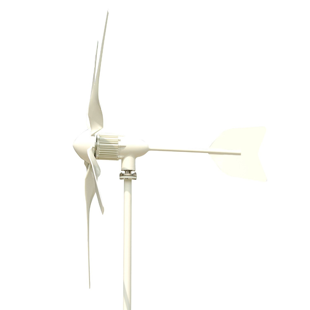 Tumo Int 600W 5 Blades Wind Turbine Generator Kit with MPPT Controller (24/48V) free shipping 600w wind grid tie inverter with lcd data for 12v 24v ac wind turbine 90 260vac no need controller and battery