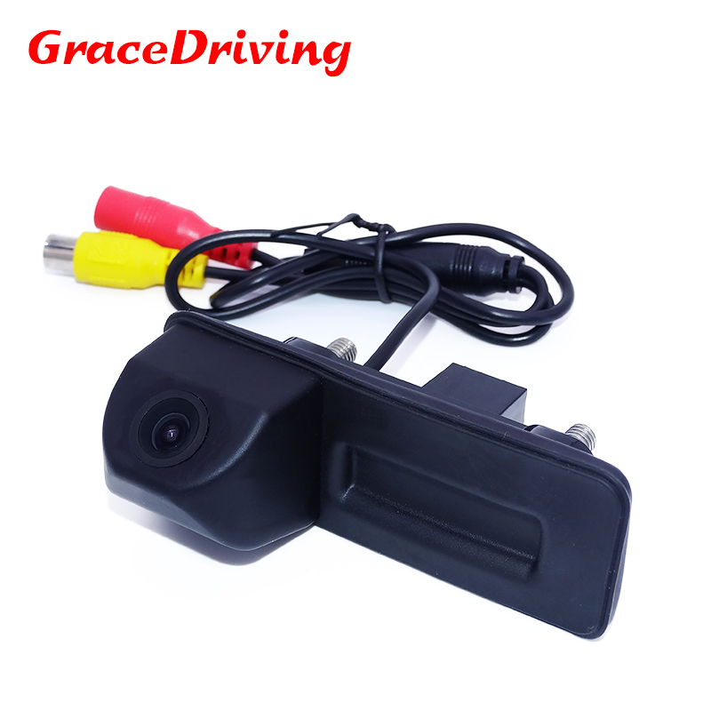 Free Shipping In Stock Car Rearview Parking Camera for Skoda Octavia Fabia Yeti Superb Install in Rear Trunk Handle