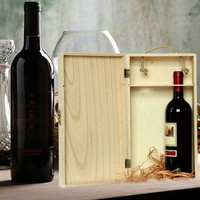 Retro Wooden Wine Box for Manufacturers Custom-Made Wholesale Wine Bags Red Wine Carrier Gift Packing Box with Leather Tote